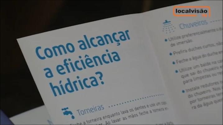 Reportagem LocalVisão TV sobre um dos Seminários Eficiência Hídrica